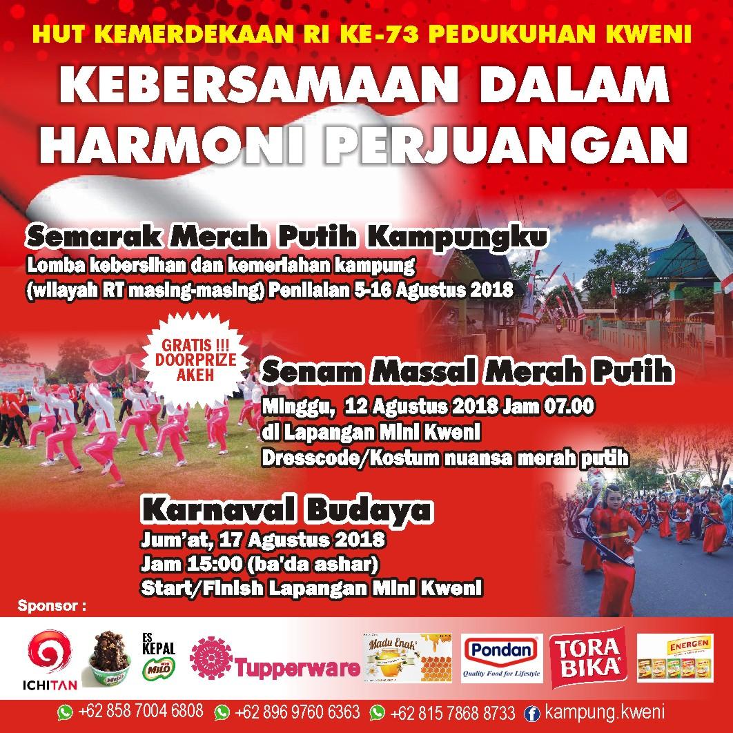 Poster Hut Ri 73 Kweni Panggungharjo