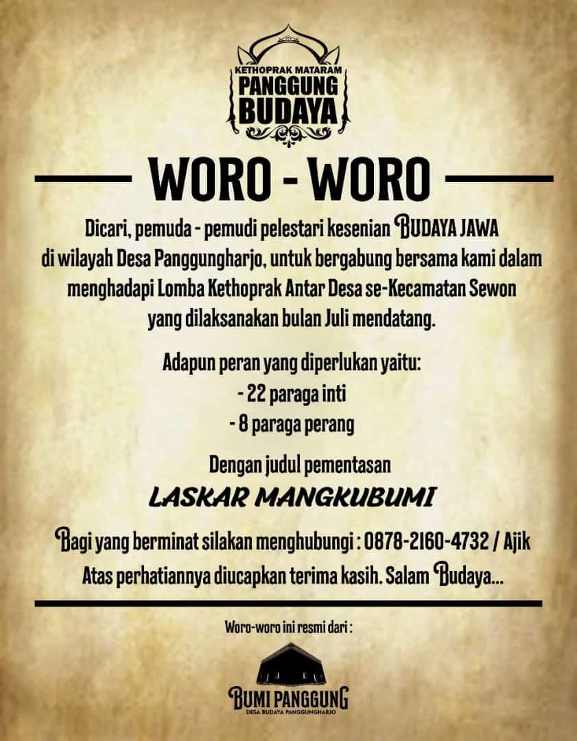 Dari Masjid Untuk Indonesia Panggungharjo